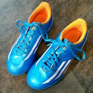 Size 1 boy Adidas Messi soccer shoes
